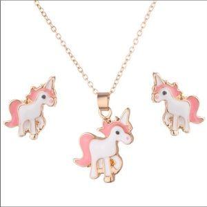 Other - Unicorn Necklace Earring Set!
